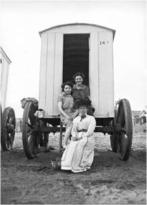 Edwardian family with bathing machine in Teignmouth