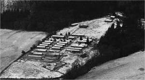 Aerial view of the Haldon Camp, courtesy Sally Barber, Obelisk Publications